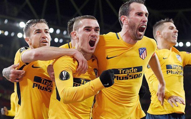 El Atlético Madrid empata a uno en su visita al Arsenal en la semifinal de ida de la Europa League