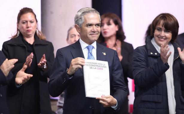 Presentan programa para reconstrucción de la Ciudad de México tras sismo