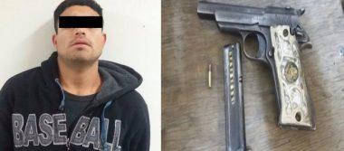Arrestan a hombre en portación ilegal de arma