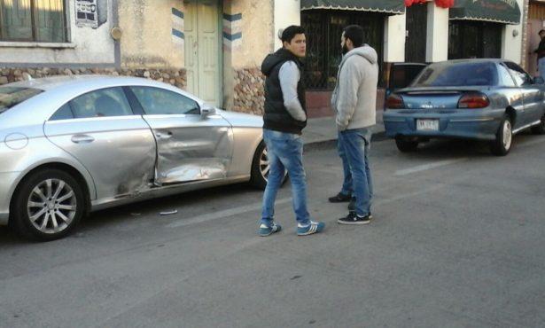 Choque en la calle Eugenio Cintrón