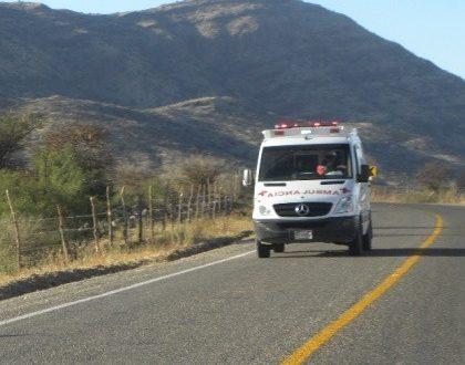 Trasladan a la capital del Estado a una menor lesionada en la volcadura del pasado domingo