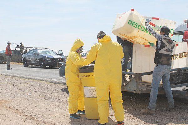 Riesgoso traslado de cianuro en las carreteras de la región