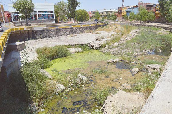 Drenaje colapsado provoca aguas negras y fétidos olores