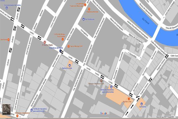 Operan en doble sentido las  calles  Cuauhtémoc, Eugenio Cintrón y Lerdo