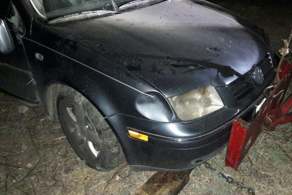 Derrapa vehículo en la carretera a Santa Bárbara