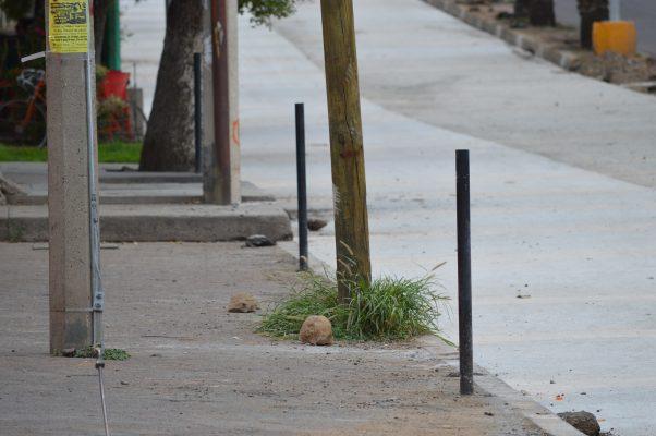 Retiran 8 parquímetros de la calle Lucas Balderas hasta La González Ortega