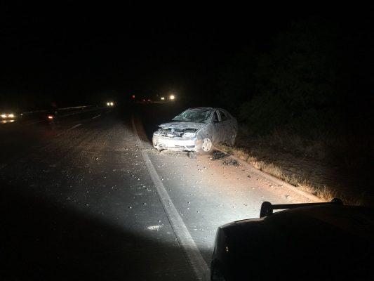 Chocan dos unidades en carretera Jiménez-Delicias