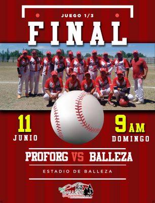 Arturo Medina felicita a equipo de Béisbol Ballezano por llegar a la final de la liga