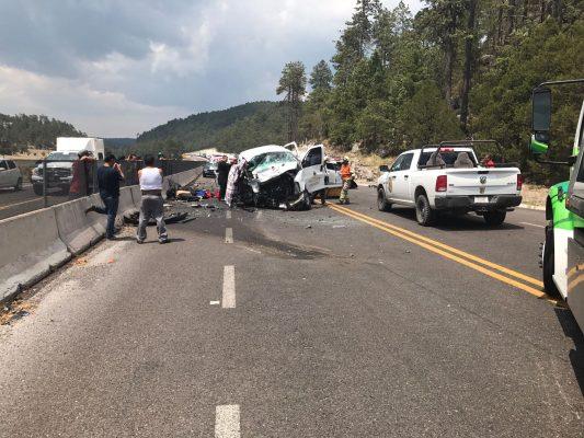 Fuera de peligro, los cuatro maestros accidentados en la Carretera Durango-Mazatlán