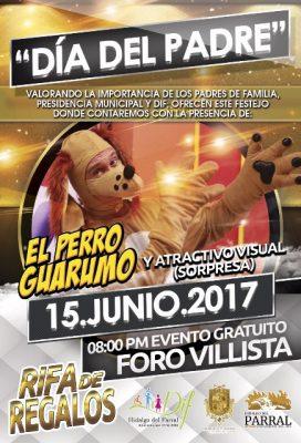 """El DIF de Parral festejará a los papás con el """"Perro Guarumo"""""""