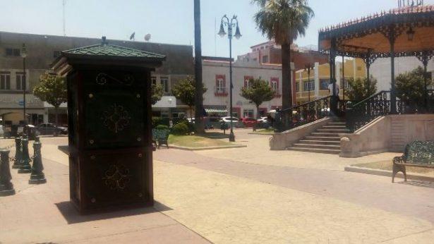 Colocan Modulo de Información turística en Plaza Principal