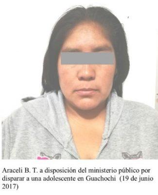Dispara mujer contra adolescente en Guachochi