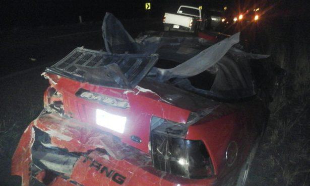 Aparatoso accidente cerca del CERESO genera cuantiosos daños materiales,