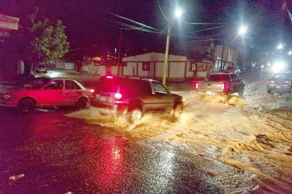 Estragos por lluvia intensa