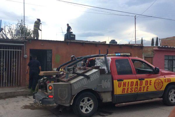 Incendio por explosión de un tanque de gas, en la PRI