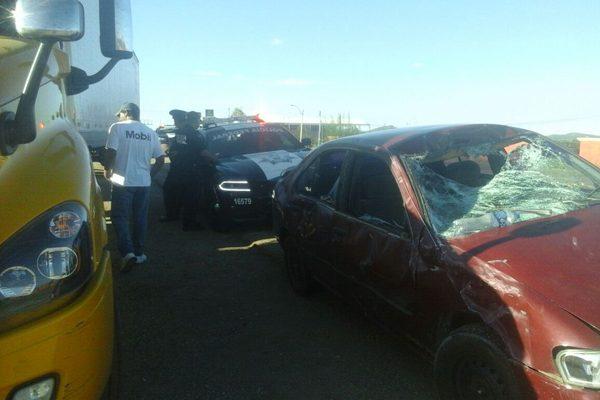 Choca contra semoviente en  la Vía Corta; no hubo heridos