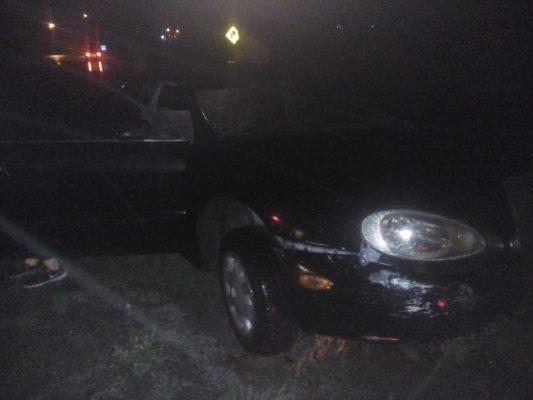 Accidente provocado por la lluvia en Punto Alegre