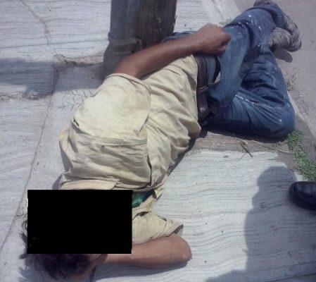Encuentran hombre muerto en una tapia
