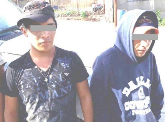 Detienen en flagrancia a dos por posesión simple de narcóticos