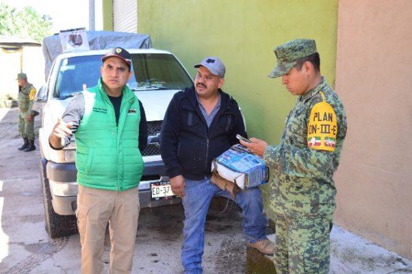 Presidente de Guadalupe y Calvo y autoridades de diferentes niveles cuantifican daños de contingencia
