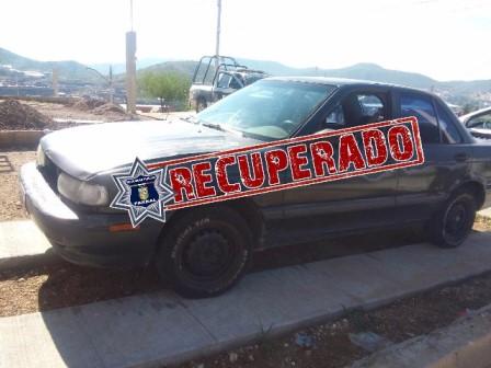Recupera Seguridad Pública Municipal vehículo robado