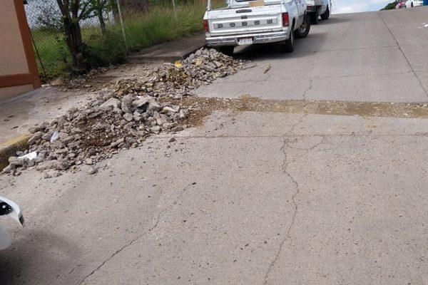 Señala Obras Públicas descoordinación con la Jmas al trabajar en el pavimento