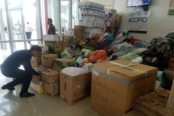 Fiscalía Sur se une a la colecta de víveres para víctimas del terremoto