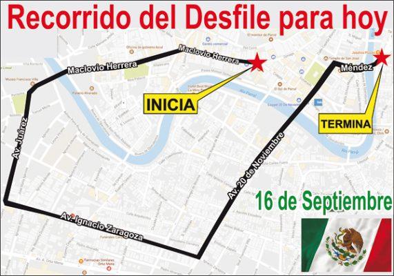 Desfile de Independencia iniciará a las 10 de la mañana