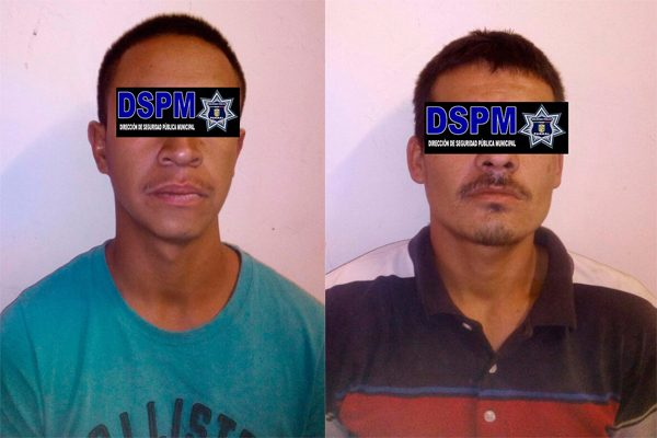 Detienen a dos hombres presuntos ladrones de llantas