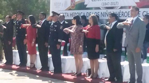 Conmemoran los 170 años de la heroica defensa por parte de cadetes del colegio militar del Castillo Chapultepec