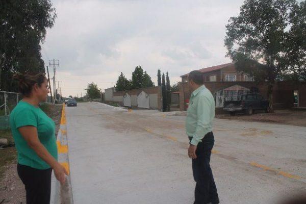 Pavimentan Calle en la Magdalena, Balleza