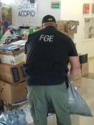 FGE se une al apoyo de las víctimas del sismo