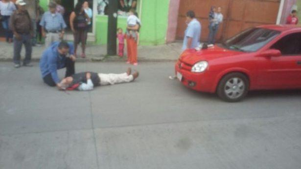 Atropellan a septuagenario en la calle Carrillo Puerto