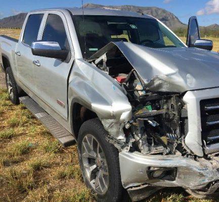 Aparatoso accidente sobre la carretera Jiménez- Delicias