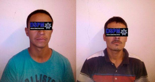 Policías arrestan a dos presuntos ladrones de neumáticos en colonia el Quijote