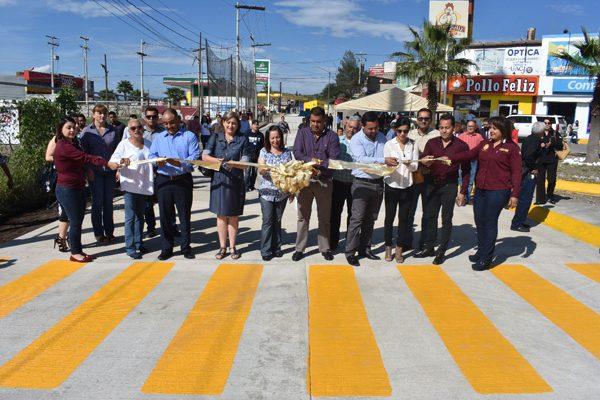 Inauguran tramo pavimentado en la Av. Niños Héroes