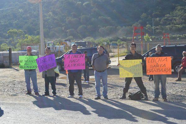 """""""El bloqueo en la Minera  de Santa Bárbara es ilegal"""""""