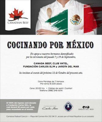 """Se realizará el evento """"Cocinando por México"""" en apoyo a damnificados por sismos"""