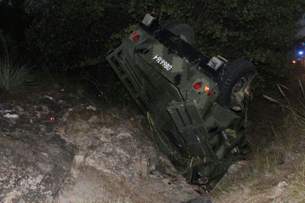 Se accidentan soldados en  Casita; hay siete lesionados