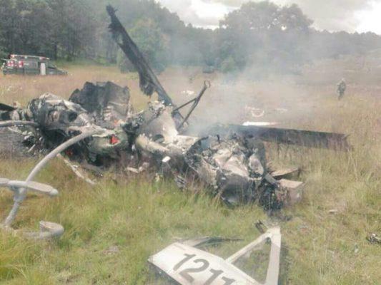 Cayó un helicóptero de la SEDENA en los límites de Durango y Pueblo Nuevo