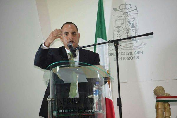 Rinde Alcalde de Guadalupe y Calvo, Noel Chávez su primer Informe de Gobierno