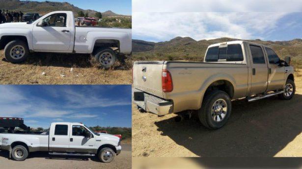 Se roban 5 camionetas en falso retén de la Vía Corta