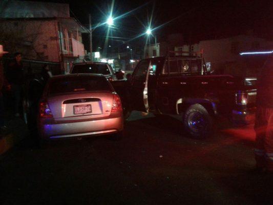 Aparatoso accidente en la Juan Rangel de Biezma