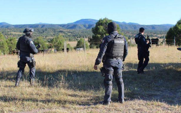 Despliega Policía Estatal, operativo en Bachíniva por enfrentamiento