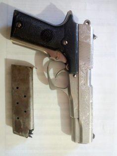 El arma que protagonizó los hechos