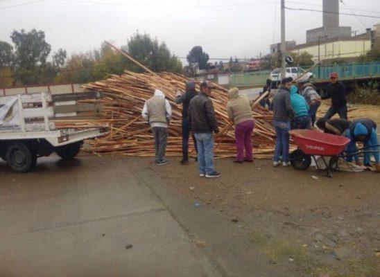 Reparte Desarrollo Social más de 47 toneladas de leña por temporal de frío