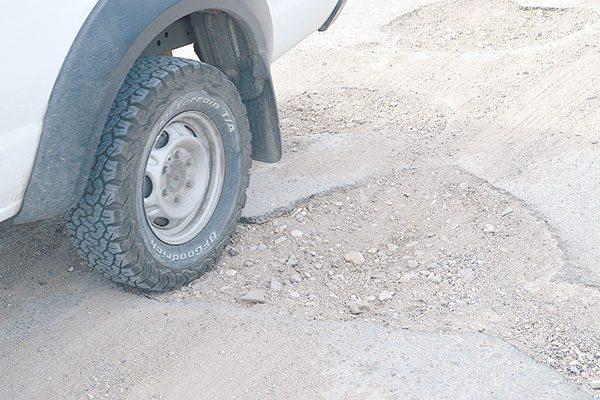 Intransitable, la carretera a Corralejo