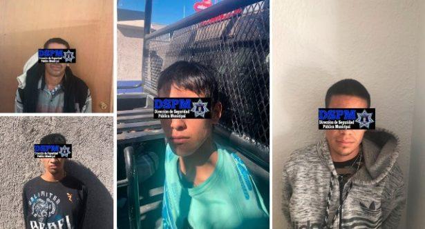 Logran arrestar Municipales y Ministeriales a 4 narcomenudista