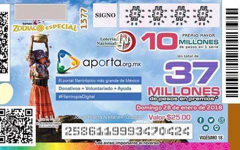 Gana alumno del Cetis 159 de El Oro fotografía que sale en billete de lotería nacional
