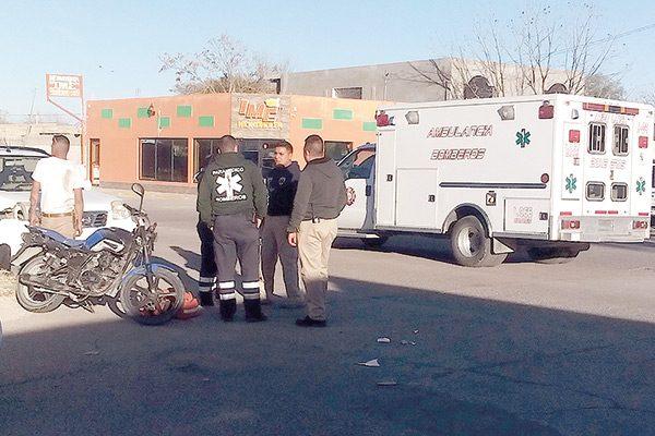Conductora menor de edad chocó contra pareja que iba en motocicleta